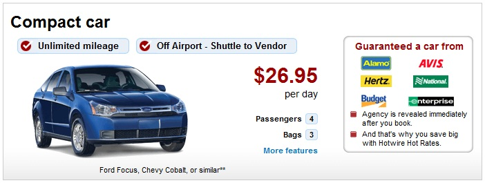 Hotwire Rental Cars Discounts