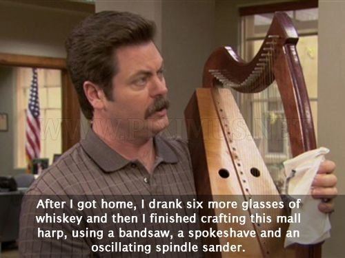 ron swanson woodworking