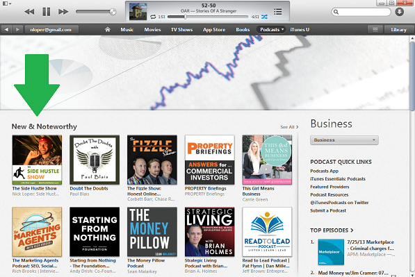 number 1 in business new and noteworthy with arrow