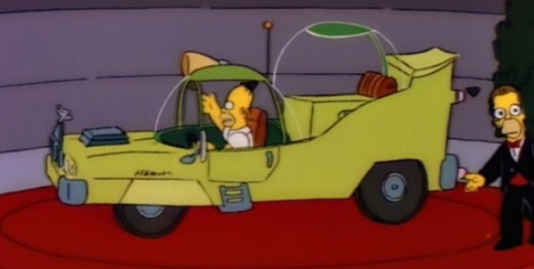 homer's custom car