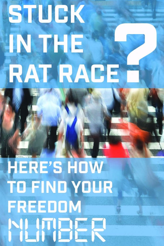 Stuck in the Rat race heres how to find your FREEDOM NUMBER image