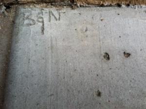 initials concrete