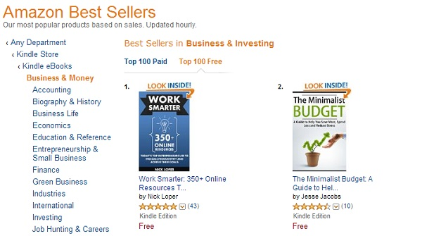 Number 1 in free Business kindle