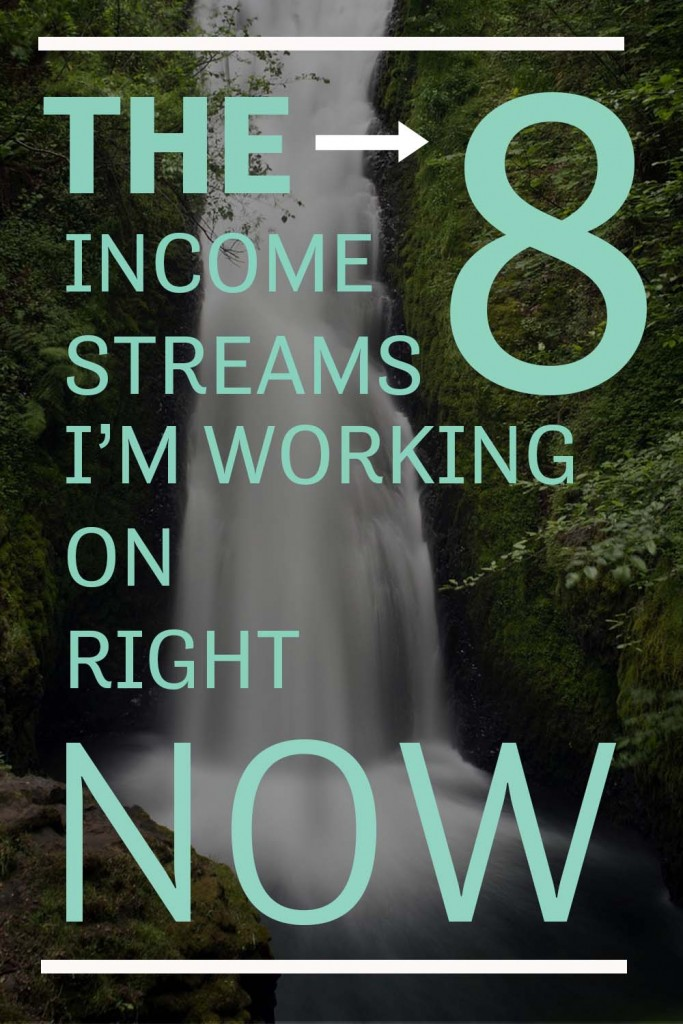 The 8 Income Streams I'm Working on Right Now Pinterest image