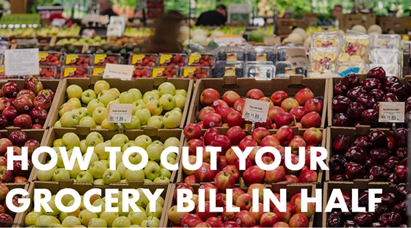 cut grocery bill in half