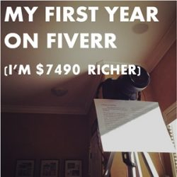75: How I Earned $7490 in My First 14 Months on Fiverr (and my plans to double it)