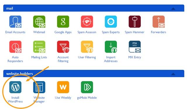 bluehost install wordpress