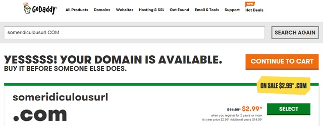 godaddy domain available