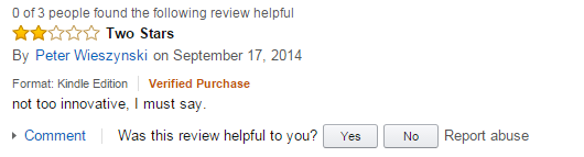 another person who thought my book sucked