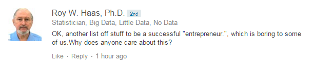 crabby comment on linkedin
