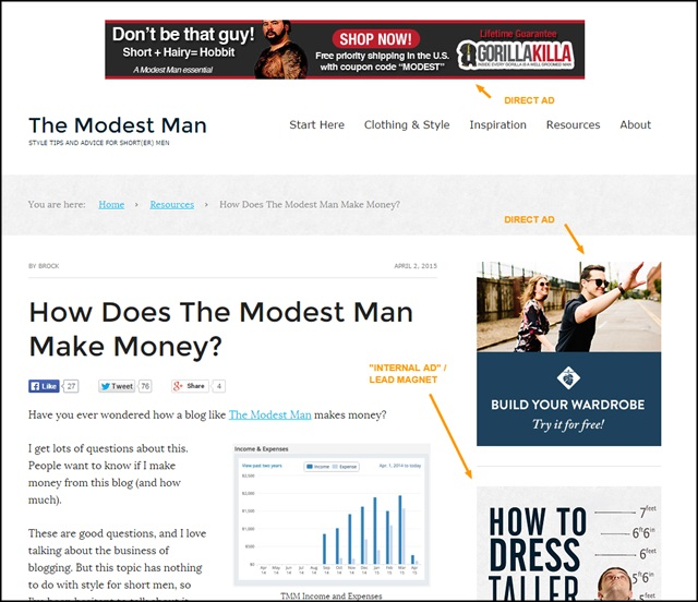 modest man ads
