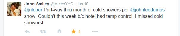 cold shower tweets john