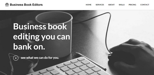 business book editing screenshot