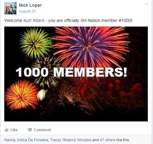 facebook group 1000 members