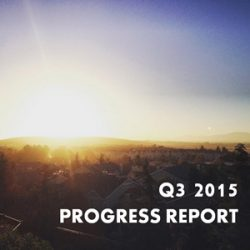 Q3 2015 Quarterly Progress Report