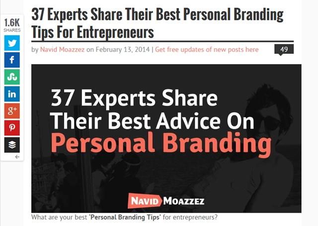 navid personal branding round-up
