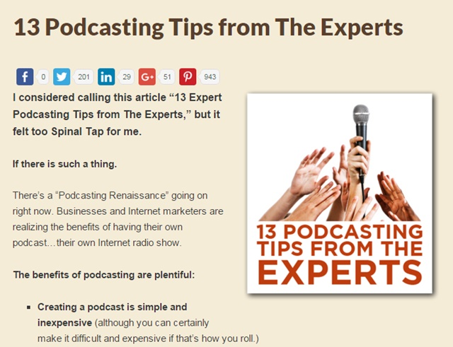 podcasting tips from the experts
