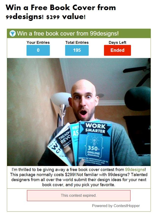 book cover contest recap