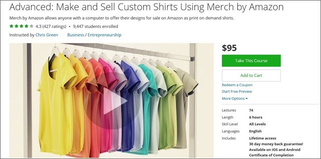The 134 best udemy courses for entrepreneurs freelancers for Make and sell shirts