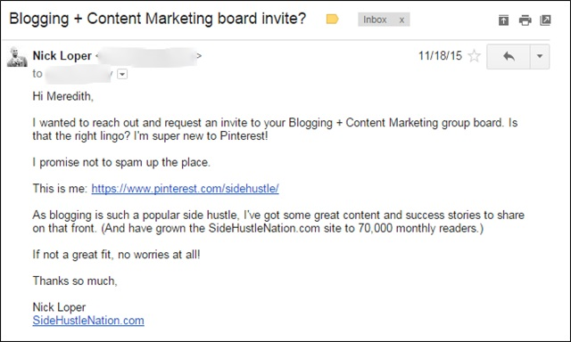 board invite email template