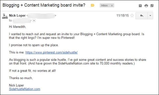 board invite email template