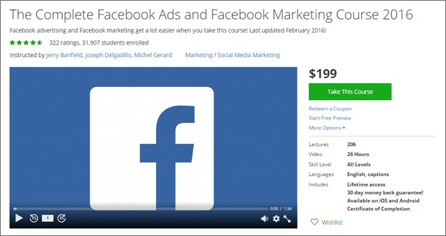 facebook ads course udemy