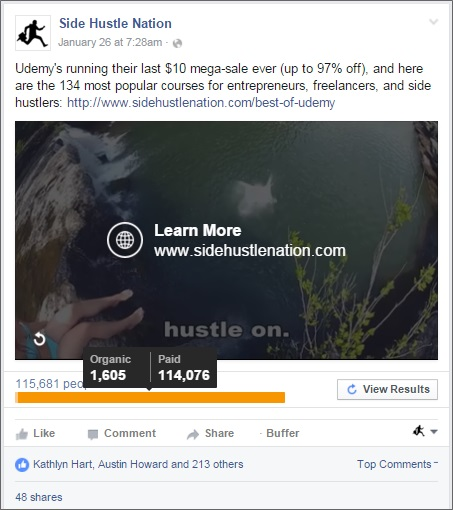 facebook video ad results