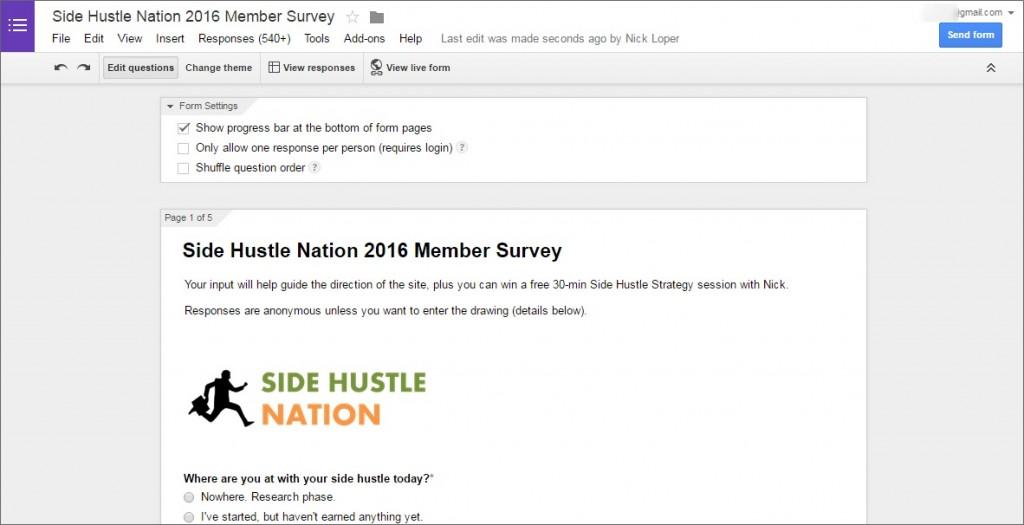 member survey google forms