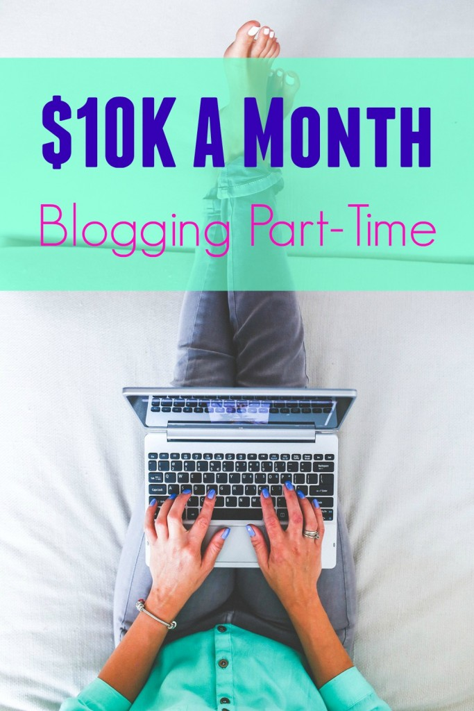 part-time blogging pin