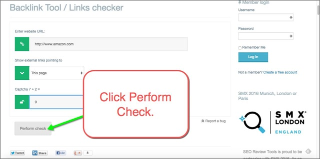 perform link check