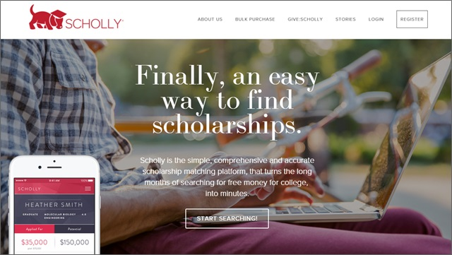 scholly homepage