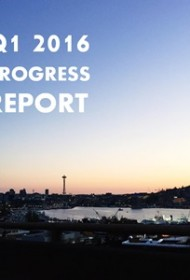 Quarterly Progress Report – Q1 2016