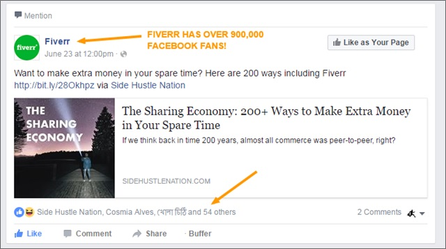 sharing economy fb post fiverr