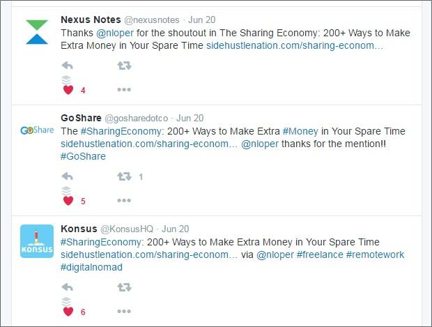 sharing economy tweets