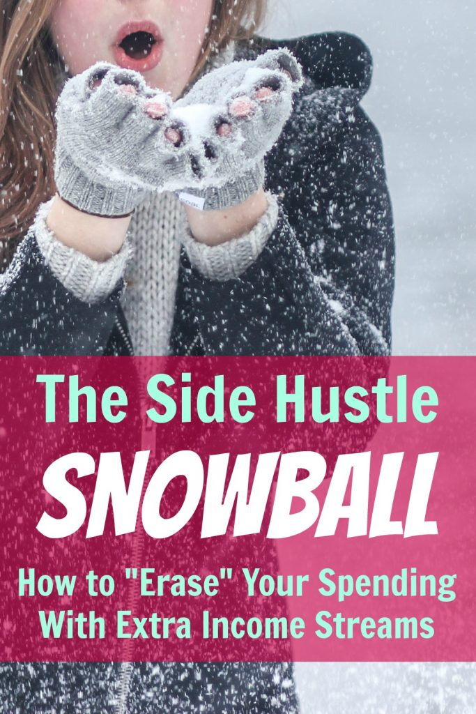 side hustle snowball pin