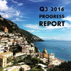 Quarterly Progress Report – Q3 2016
