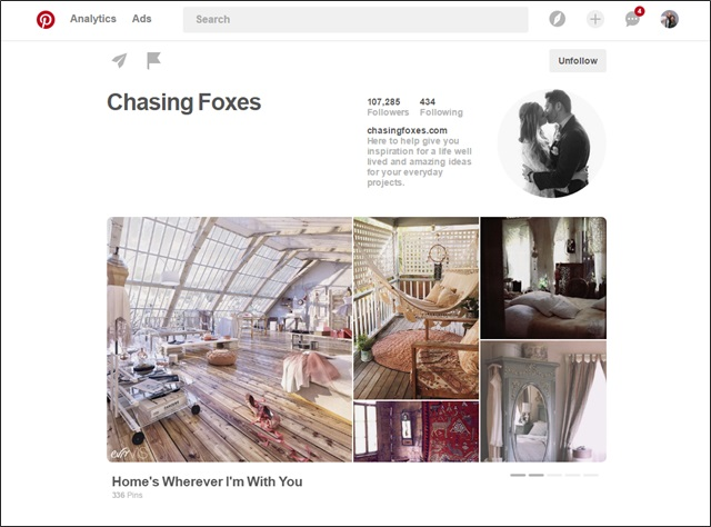 Nicks Notes For A Case Study Example On What Killer Pinterest Profile Looks Like Check Out Chasing Foxes