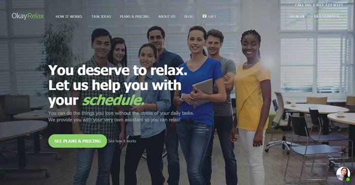 okayrelax homepage