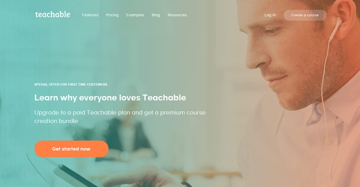 teachable homepage