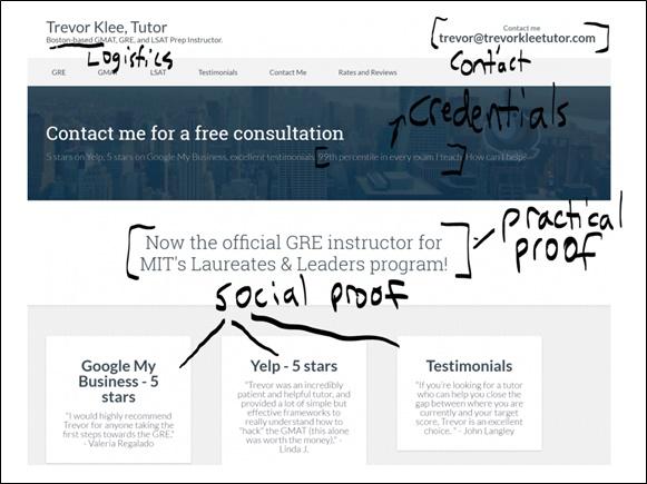 tutoring website homepage example