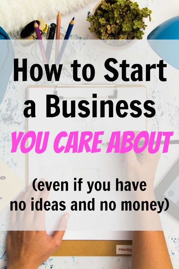 start a business you care about