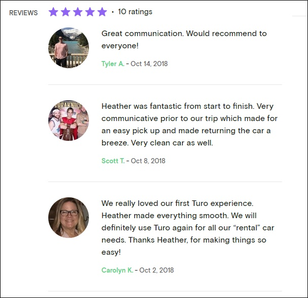 turo customer reviews