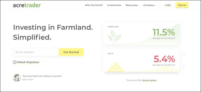 acretrader homepage