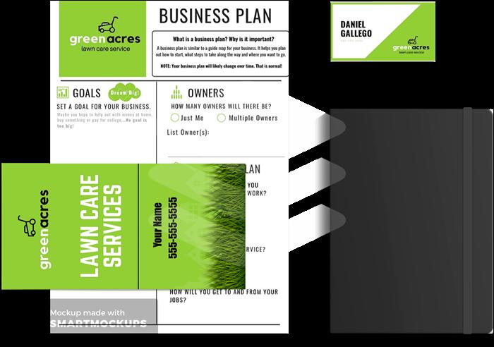 kids lawn care business kit