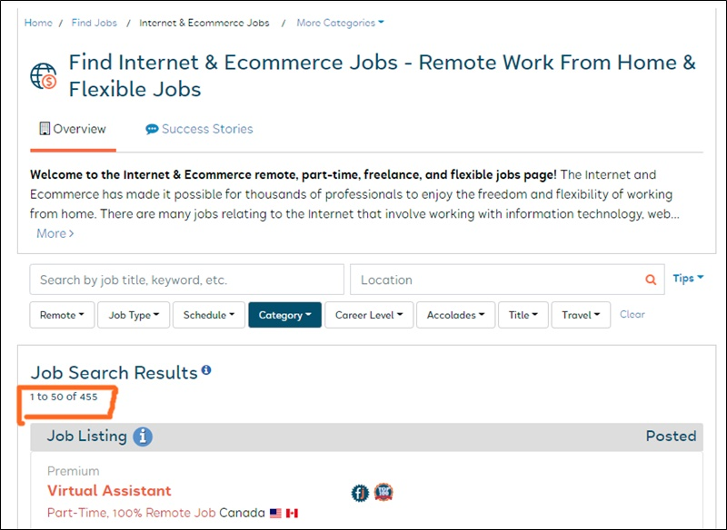 work from home jobs at flexjobs