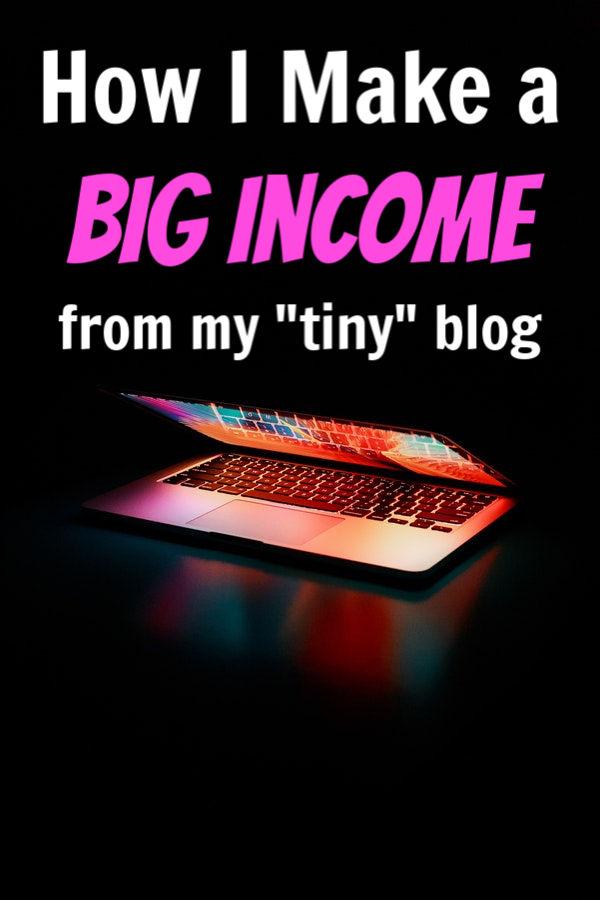 small blog big income
