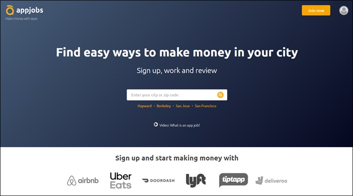 appjobs homepage