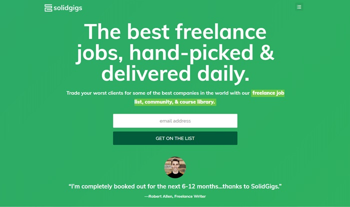 find side jobs on solidgigs