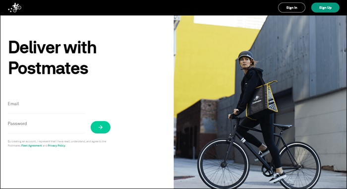 postmates fleet sign up