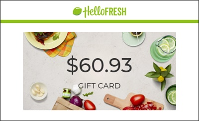 hellofresh gift card for entrepeneurs
